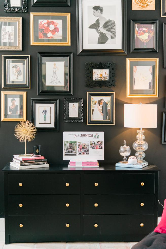 Room Ideas | Modern Room Ideas | Frame wall | White Couches | Posh Floral Designs | Z Gallerie | Target | Leopard Print Pillows | Fuschia Pillows | Posh Floral Designs