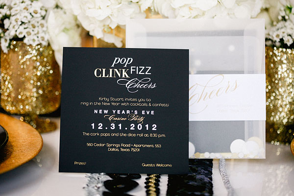 Posh Floral Designs Dallas florist | New Year's wedding inspiration sparkle Apryl Ann Photography