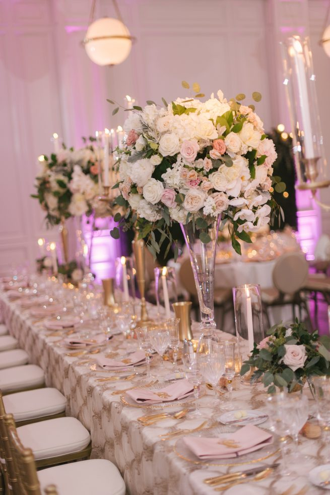 Posh Floral Designs Dallas Texas wedding florist | The Adolphus Hotel