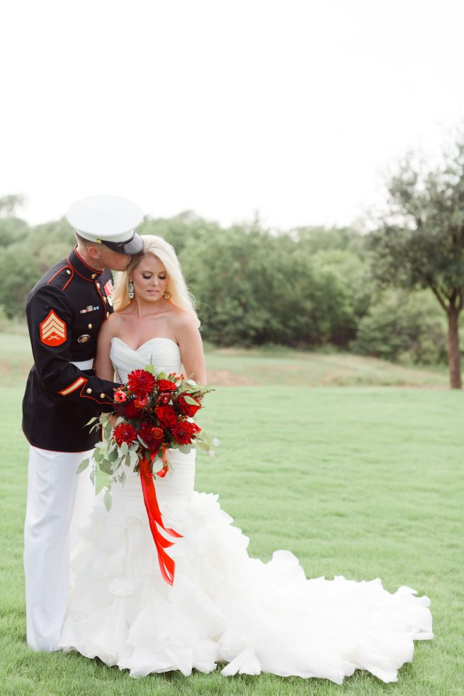 Posh Floral Designs Dallas florist | patriotic wedding The Milestone Aubrey Texas